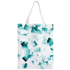 Modern Teal Cubes Classic Light Tote Bag