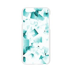 Modern Teal Cubes Apple Seamless iPhone 6/6S Case (Transparent)