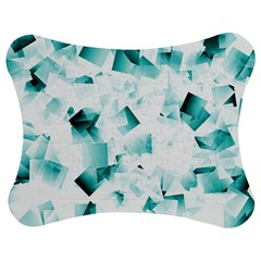 Modern Teal Cubes Jigsaw Puzzle Photo Stand (bow)