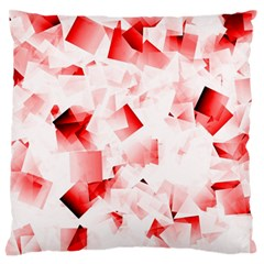 Modern Red Cubes Standard Flano Cushion Cases (one Side)