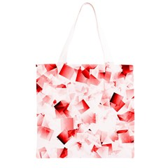 Modern Red Cubes Grocery Light Tote Bag