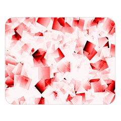 Modern Red Cubes Double Sided Flano Blanket (large)