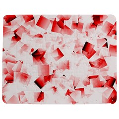 Modern Red Cubes Jigsaw Puzzle Photo Stand (Rectangular)