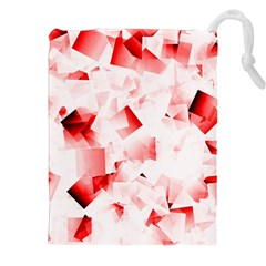Modern Red Cubes Drawstring Pouches (XXL)
