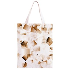 Modern Brown Cubes Classic Light Tote Bag