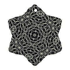Polygons Pattern Print Ornament (snowflake)
