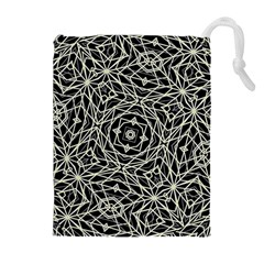 Polygons Pattern Print Drawstring Pouches (extra Large)