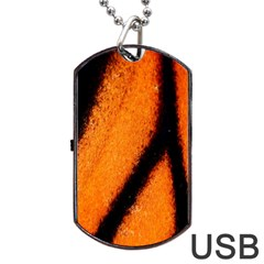 Butterfly Design 5 Dog Tag Usb Flash (one Side)
