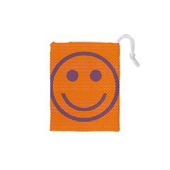Comic Book Smiley Dots Drawstring Pouches (XS)