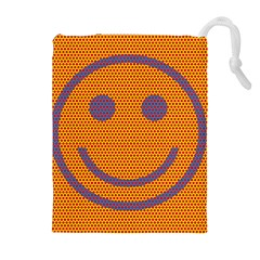 Comic Book Smiley Dots Drawstring Pouches (Extra Large)