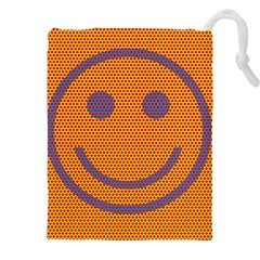 Comic Book Smiley Dots Drawstring Pouches (XXL)