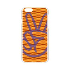 Comic Book Peace Dots Apple Seamless iPhone 6/6S Case (Transparent)