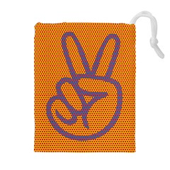 Comic Book Peace Dots Drawstring Pouches (Extra Large)
