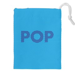 Comic Book Pop Dots Drawstring Pouches (XXL)