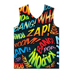 Comic Book Sounds Men s Basketball Tank Top