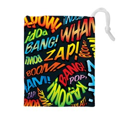 Comic Book Sounds Drawstring Pouches (Extra Large)