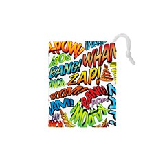 Comic Book Sounds Drawstring Pouches (XS)