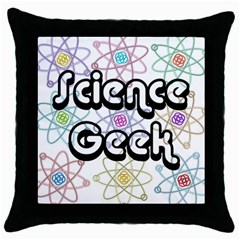 Science Geek Throw Pillow Cases (Black)