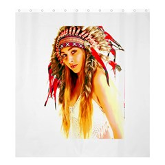 Indian 26 Shower Curtain 66  X 72  (large)