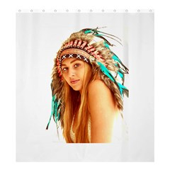 Indian 27 Shower Curtain 66  X 72  (large)