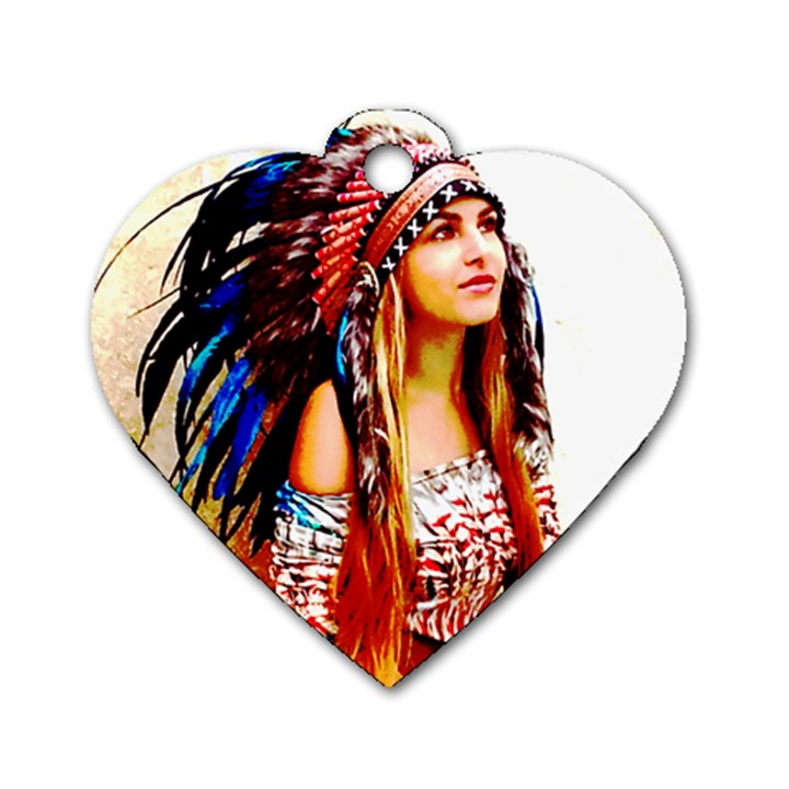 Indian 22 Dog Tag Heart (Two Sides)