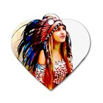 Indian 22 Dog Tag Heart (Two Sides) Back