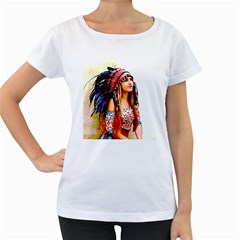 Indian 22 Women s Loose Fit T Shirt (white)
