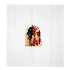 Indian 22 Shower Curtain 66  X 72  (large)