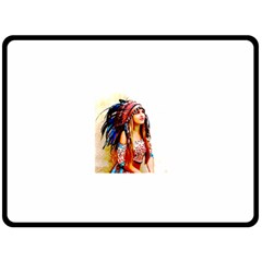 Indian 22 Double Sided Fleece Blanket (large)