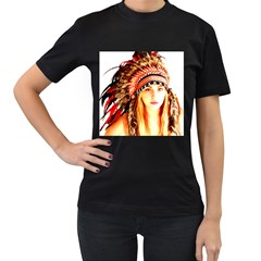 Indian 3 Women s T Shirt (black) (two Sided)