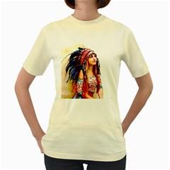 Indian 22 Women s Yellow T Shirt