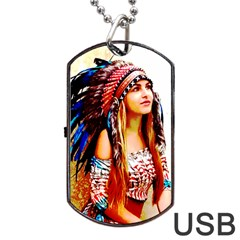 Indian 22 Dog Tag Usb Flash (two Sides)