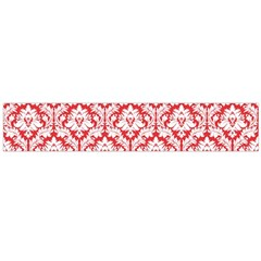 White On Red Damask Flano Scarf (large)
