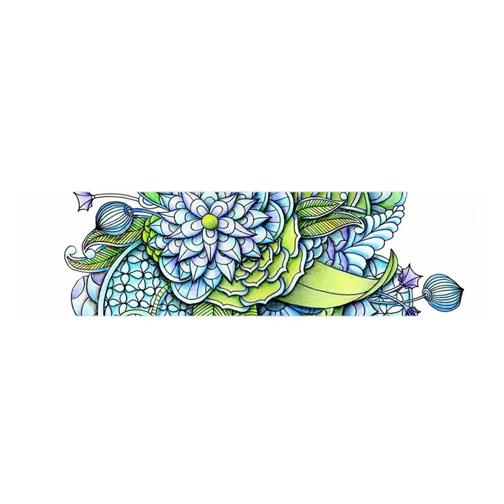 Peaceful Flower Garden Satin Scarf (Oblong)