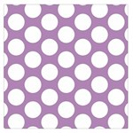 Lilac Polkadot Large Satin Scarf (Square) Front