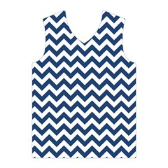 Dark Blue And White Zigzag Men s Basketball Tank Top