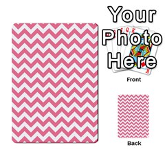 Pink And White Zigzag Multi Purpose Cards (rectangle)