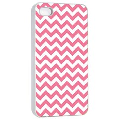 Pink And White Zigzag Apple Iphone 4/4s Seamless Case (white)