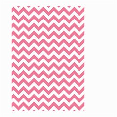 Pink And White Zigzag Small Garden Flag (two Sides)