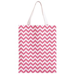 Pink And White Zigzag Classic Light Tote Bag