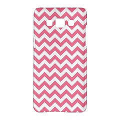 Pink And White Zigzag Samsung Galaxy A5 Hardshell Case