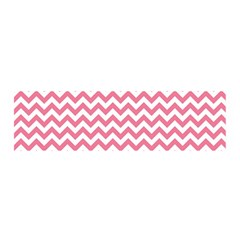 Pink And White Zigzag Satin Scarf (oblong)