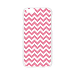 Pink And White Zigzag Apple Seamless iPhone 6/6S Case (Transparent)