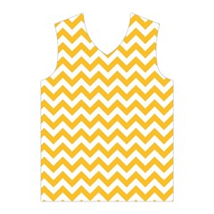 Sunny Yellow And White Zigzag Pattern Men s Basketball Tank Top