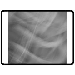 Gray Fog Fleece Blanket (large)