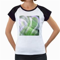 Green And Purple Fog Women s Cap Sleeve T