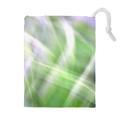 Green And Purple Fog Drawstring Pouches (extra Large)