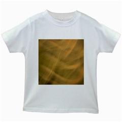 Brown Fog Kids White T Shirts