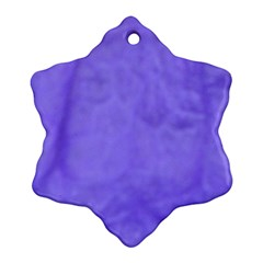 Purple Modern Leaf Ornament (snowflake)
