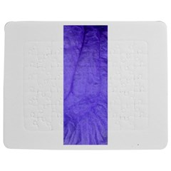Purple Modern Leaf Jigsaw Puzzle Photo Stand (Rectangular)
